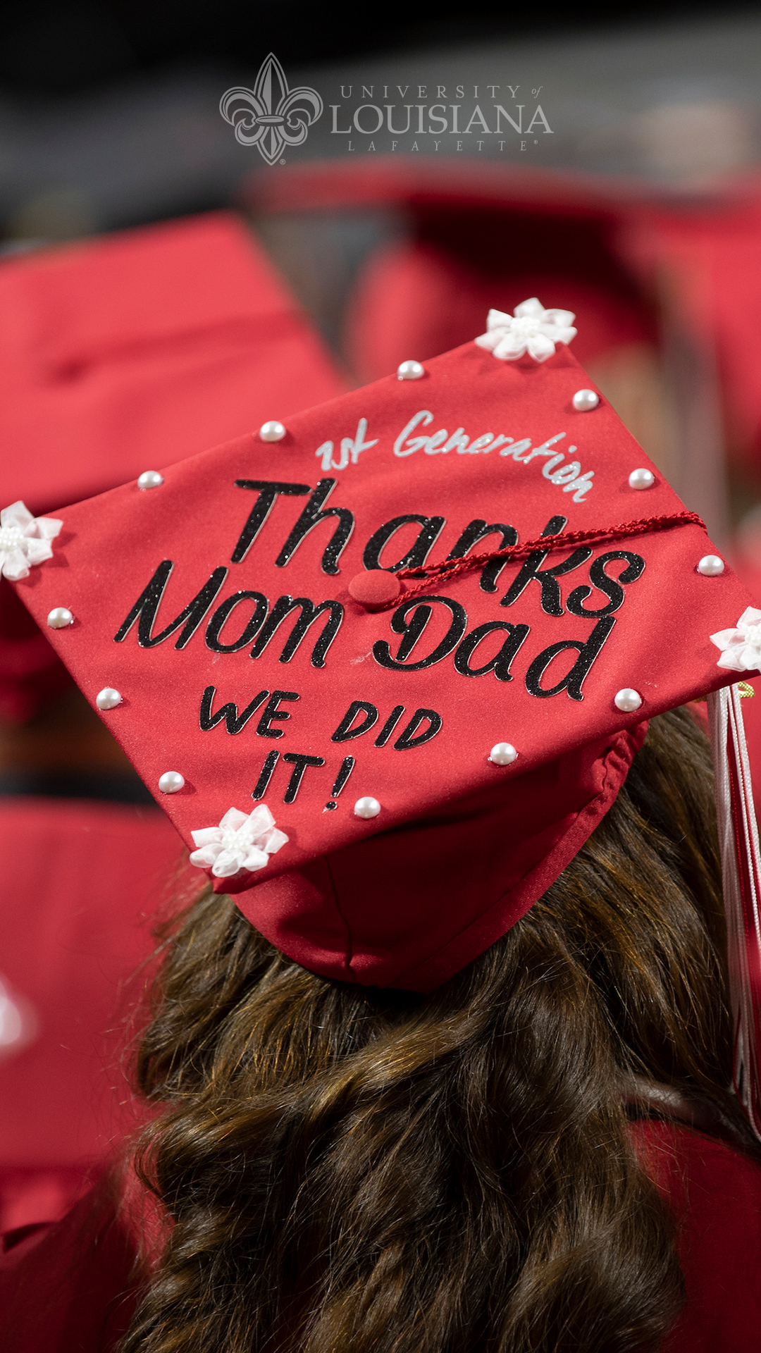 Image of graduation cap with the words